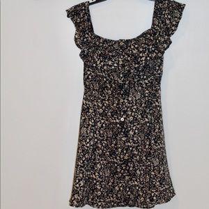 Dresses & Skirts - navy floral off the shoulder dress